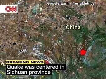 Район происшествия. Кадр телеканала CNN