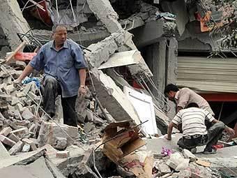 Последствия землятресения в Китае. Фото AFP
