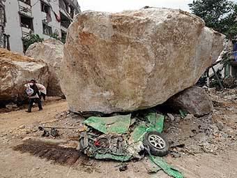 Последствия землетрясения в Китае. Фото AFP