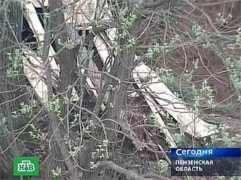 Землянка пензенских сектантов. Кадр телеканала НТВ