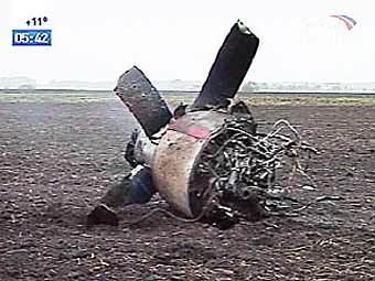 На месте падения Ан-12 в Челябинской области.