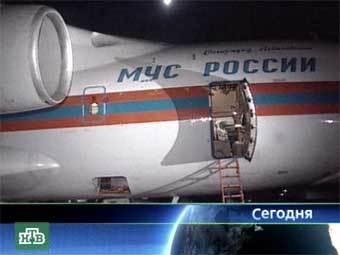 На Украину в пятницу вечером вылетел транспортный самолет МЧС России с грузом гуманитарной помощи для пострадавших от наводнения районов, сообщает РИА НОВОСТИ