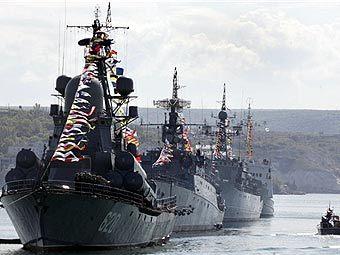 Военно-морской парад в честь 225-летия Черноморского  флота. Фото AFP, архив