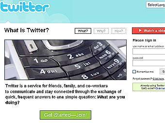 Главная страница twitter.com