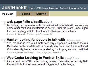 Главная страница JustHackIt