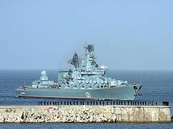 Флагман Черноморского флота отправился охранять Абхазию