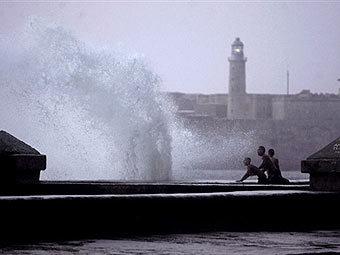 Шторм в Гаване. Фото AFP