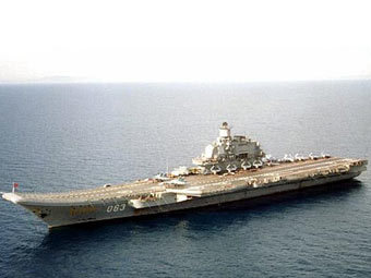 """Авианесущий крейсер """"Адмирал Кузнецов"""". Фото с сайта fas.org"""