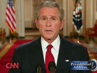 Буш обратился к народу в связи с кризисом