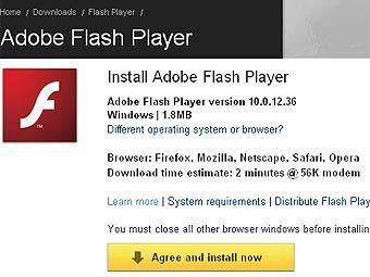 Adobe выпустила десятую версию плеера Flash