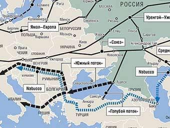 """Газопровод  """"Южный поток """", строительство которого начнется в следующем году, затронет Венгрию."""