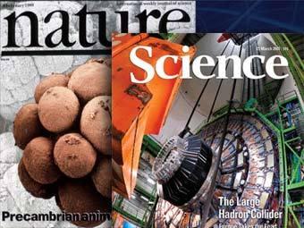 Обложки научных журналов Science и Nature