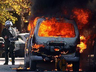 Беспорядки в Салониках. Фото ©AFP