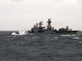 """Корабль  """"Адмирал Чабаненко """" вошел в Панамский канал."""