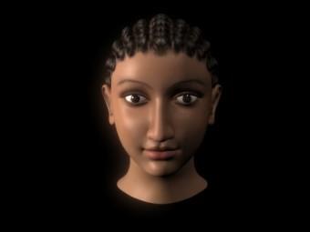 Трехмерное изображение Клеопатры. С сайта газеты Daily Mail
