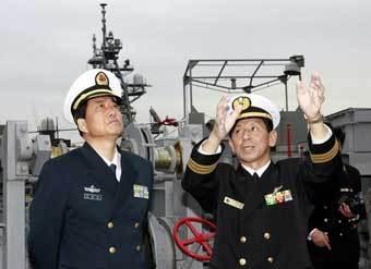 Офицеры ВМС Китая. Фото ©AFP