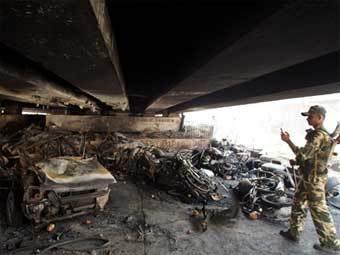 Последствия октябрьского взрыва в Гувахати. Архивное фото ©AFP