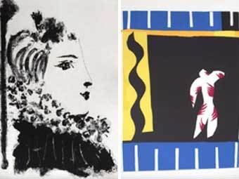 Рисунки Пиксассо и Матисса, выставленные в галерее Fasanengalerie. Фото с сайта fasanengalerie.net
