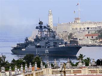 "БПК ""Адмирал Чабаненко"" в порту Гаваны. Фото ©AFP, архив"