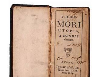 """Старинное издание """"Утопии"""" Томаса Мора. Фото с сайта iisg.nl"""