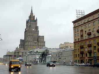 """Вид на здание МИД России. Фото """"Ленты.Ру"""""""