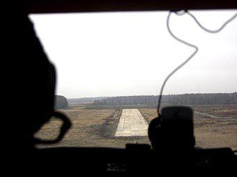 "Вид на ВПП аэродрома ""Большое Грызлово"". Фото с сайта reaa.ru"