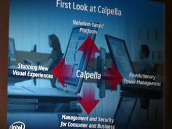 Презентация Intel Calpella. Фото с сайта bit-tech.net