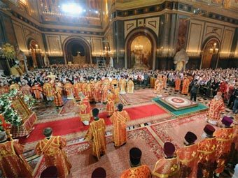 В пасхальных службах приняли участие 4,5 миллиона россиян