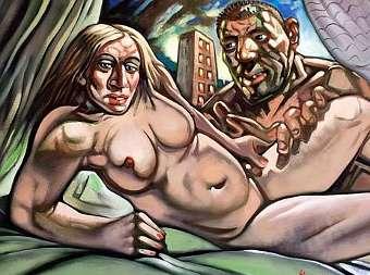 """Мадонна и Гай"" Питера Хоусона. Изображение с сайта аукциона McTears"