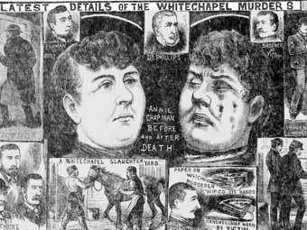 Страница выпуска The Illustrated Police News об уайтчепельских убийствах (сентябрь 1888 года) с сайта newspapers.bl.uk