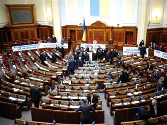 Партия регионов заблокировала работу Верховной Рады