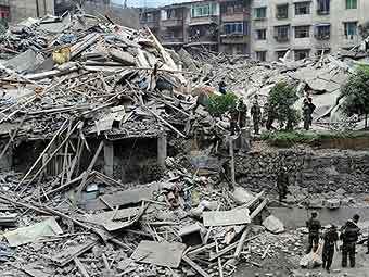 Последствия землетрясения, произошедшего в мае 2008 года в провинции Сычуань. Архивное фото ©AFP
