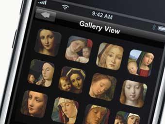 Внешний вид приложения. Иллюстрация с сайта Национальной галереи Великобритании