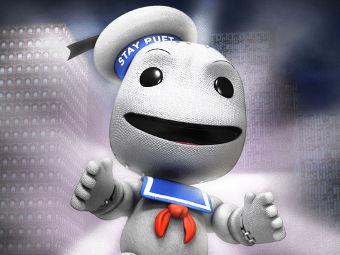 Главный герой LittleBigPlanet в костюме из дополнения Ghostbusters