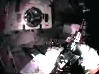 Кадр прямого эфира NASA TV
