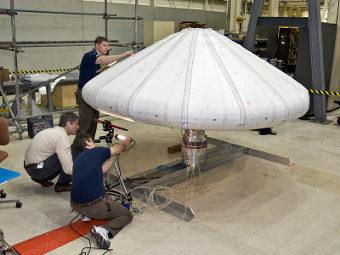 NASA испытает надувную защиту для космических кораблей