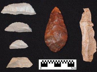 Закалка камня огнем в среднем палеолите