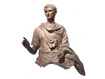 фрагменты конной статуи императора Августа