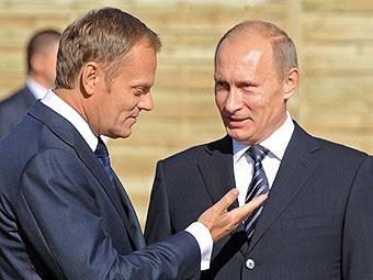 Дональд Туск и Владимир Путин. Фото ©AFP