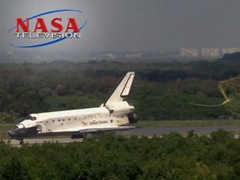 "Посадка ""Дискавери"". Кадр NASA TV"