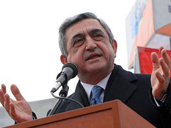 Серж Саргсян. Фото пресс-службы президента Армении