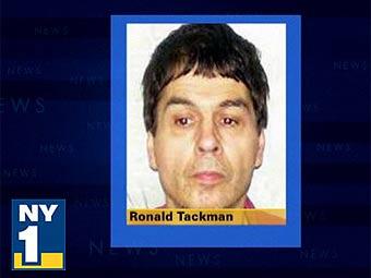 Рональд Тэкман. Фото, переданное в эфире  телеканала NY1