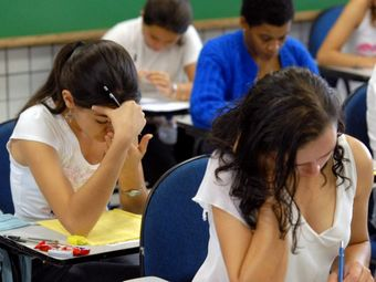 Бразильские выпускники на экзамене. Фото с сайта www.agenciabrasil.gov.br