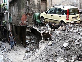Последствия оползня на Сицилии. Фото ©AFP