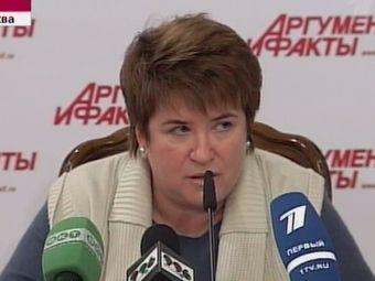 """Любовь Глебова. Кадр """"Первого канала"""", архив"""