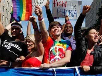 Акция сексменьшинств в Вашингтоне. Фото ©AP