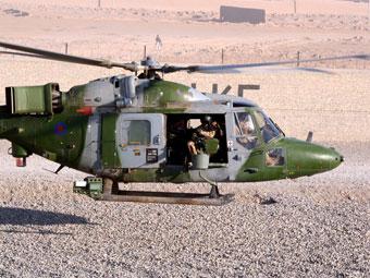 Британский вертолет Lynx в Афганистане. Фото Министерства обороны Великобритании.
