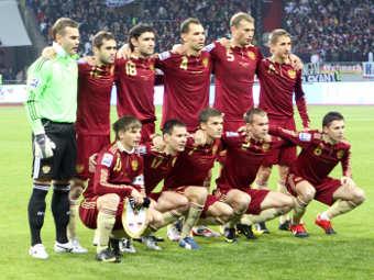 Сборная России по футболу. Фото Александра Котомина, Lenta.Ru