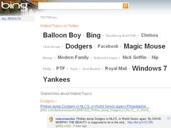Поиск Bing по Twitter