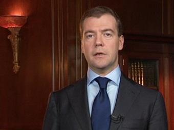 Дмитрий Медведев. Кадр из видеообращения президента РФ